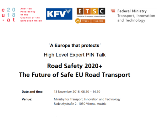 ETSC – Road Safety 2020+ The Future of Safe EU Road Transport, 2018