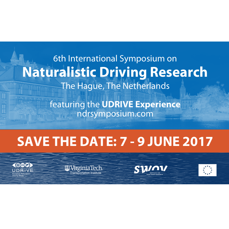 SWOV – UDRIVE and Naturalistic Driving Symposium, Hague, 2017