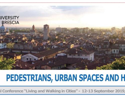 Universita Degli Studi di Brescia – Living and Walking in Cities Conference, Brescia, 2019