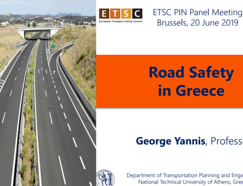 Road Safety in Greece highlighted, Brussels, 2019