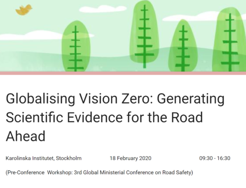ICORSI – Globalising Vision Zero: Generating Scientific Evidence for the Road Ahead, Stockholm, 2020