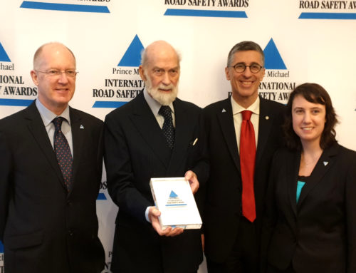 SafetyCube Wins the Prince Michael International Road Safety Award 2019