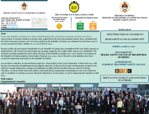8th International Conference Road Safety in Local Community, Banja Luka, 2019
