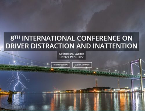 SAFER/UGE/UNSW – 8th International Conference on Driver Distraction and Inattention, Gotherburg, October 2022
