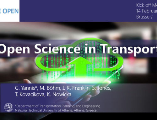 Open Science in Transport presentation at BeOpen, Brussels, 2019