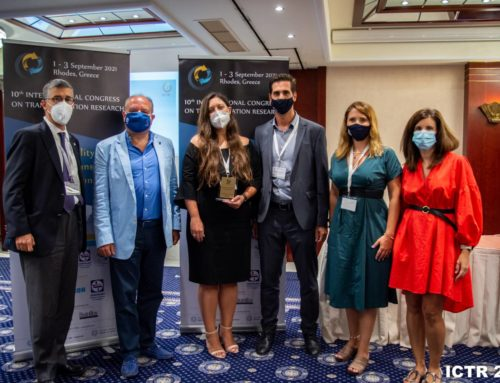 ICTR2021 – Young Researcher Best Road Safety Paper Award to Eva Michelaraki, September 2021