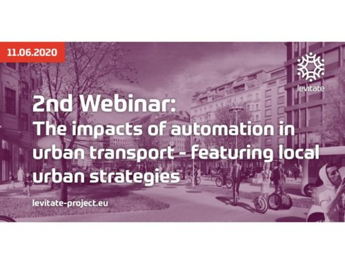 LEVITATE – Webinar: The impacts of automation in urban transport – featuring local urban strategies, June 2020
