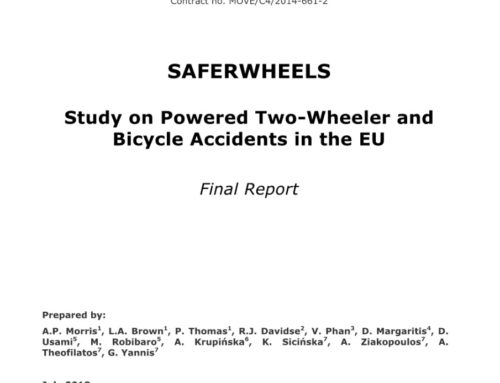 European Commission – Study on powered two-wheeler and bicycle accidents in the EU, SaferWheels, 2018